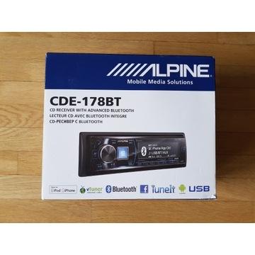ALPINE CDE-178BT NIEUŻYWANY