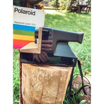 Polaroid 500 kolekcjonerski Box instrukcja sprawny