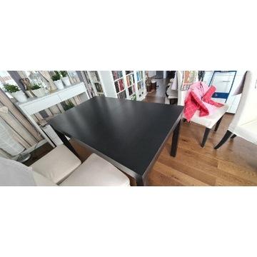 Stół rozkładany Ikea Bjursta czarnobrązowy