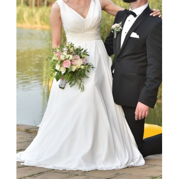 Suknia ślubna NUGAT Margarett ecru 36 XS/S