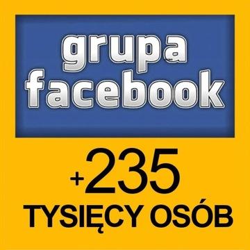 Ogłoszenie na grupie Facebook | 235+ tysięcy osób