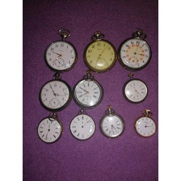 10 zegarków kieszonkowych srebro