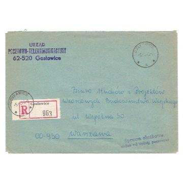 Gosławice (Konin) - Koperty polecone z lat 1973-75