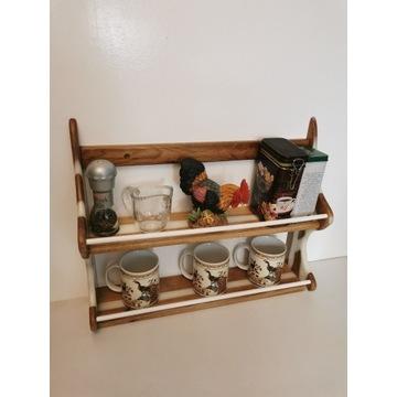 Półka stojąca wisząca regał kuchenny epoksydowey