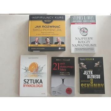 Książki biznesowe i motywacyjne kpl 2- jak nowe