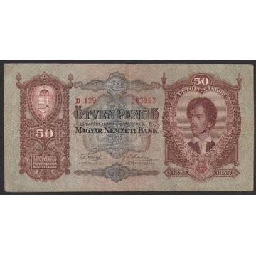 Węgry 50 pengo 1932 - D129 - Petofi Sandor
