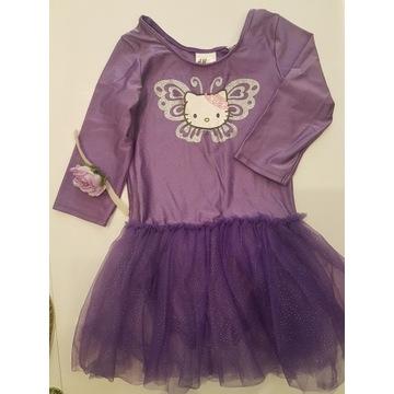 H&M strój baletowy Hello Kitty r.122/128 +buciki,f