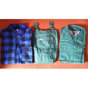 Odzież robocza, spodnie, bluza, koszulaa