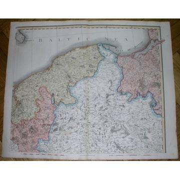 1800 GIGA MAPA WIELKOPOLSKA POMORZE PRUSY KUJAWY