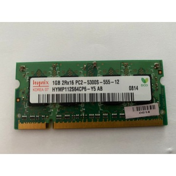 Pamięć RAM hynix 1GB 2Rx16 PC2-5300S-555-12