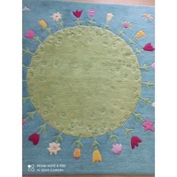 Dywan dziecięcy wełna Haba łąka kwiatów 150 cm