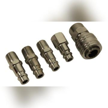 Zestaw szybkozłączek pneumatycznych do kompresora