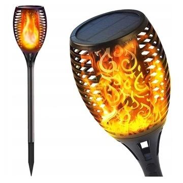 POCHODNIA SOLARNA LAMPA LED do ogrodu PIĘKNA