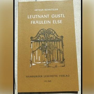 """Leutnant Gustl/ Fräulein Else"" Arthur Schnitzler"