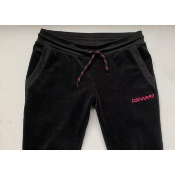 Spodnie dresowe CONVERSE 146/152 czarne WELUR