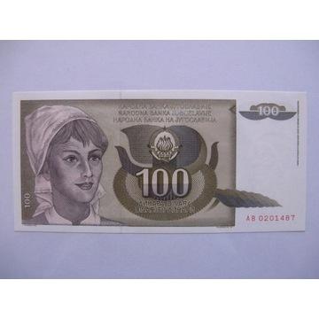 Jugosławia - 100 Dinara - 1991 - P108 - St.1