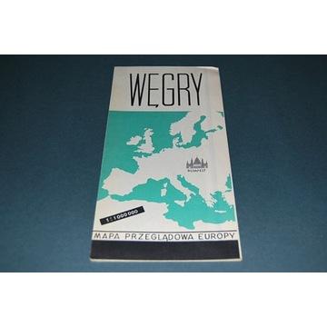 Starocia Węgry Mapa Wyd 1966r