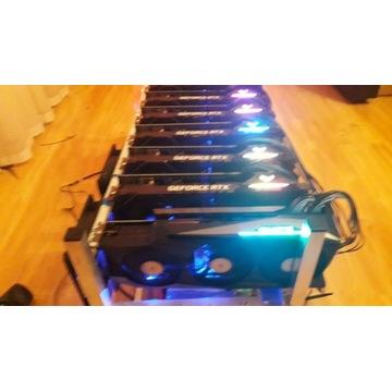 Koparka kryptowalut 1x 3080 8x RTX 3060TI 600Mh/s