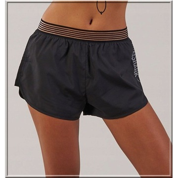 GYMSHARK running shorts black/white M gym shark