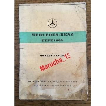 Mercedes 180b Kubuś instrukcja obsługi oryginał