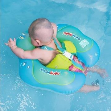 Koło do pływania dla niemowląt z pasami