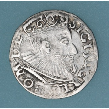 trojak 1593, Poznań; odcinki zamiast kropek w pods