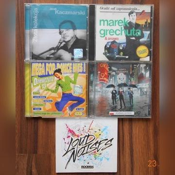 5 x płyta CD - Kaczmarski , Grechuta , loud noises