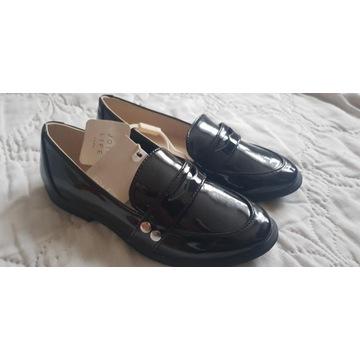 Zara kids lakierki buty mokasyny czarne 32