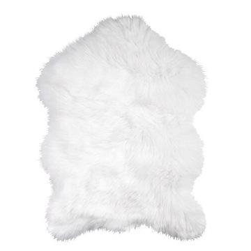 Dywanik owcza skóra biały