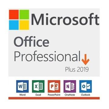 Microsoft Office 2019 Professional Plus PL płyta