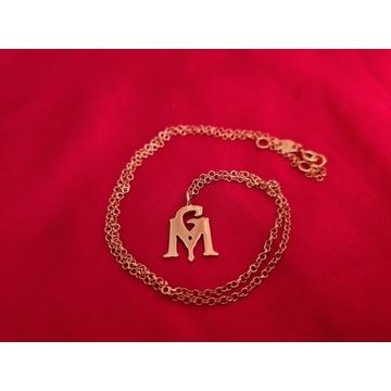 Nowy srebrny złocony choker naszyjnik Ganja Mafia
