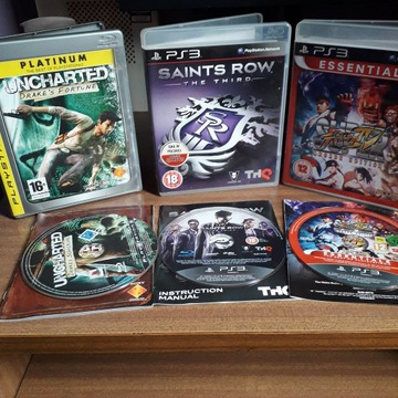 3w1 OKAZJA Saints Row 3 Uncharted Street Fighter 4