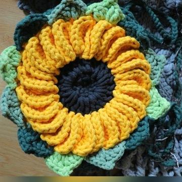 Torebka na szydełku -Słoneczny słonecznik:-)