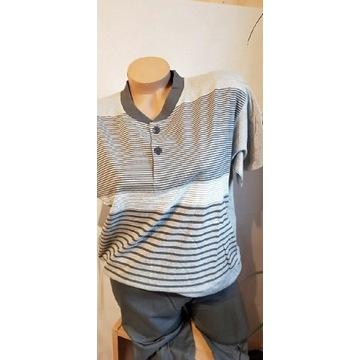 Piżama męska  bielizną męska krótki rękaw, spodnie