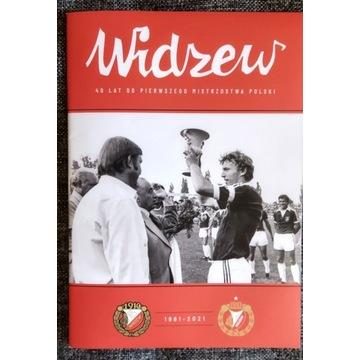 Program meczowy Widzew Łódź 40-lecie MP 1981-2021