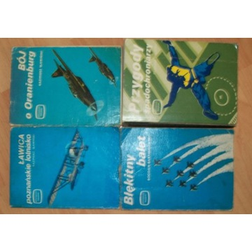 miniatury lotnicze zestaw 4 ksiazek
