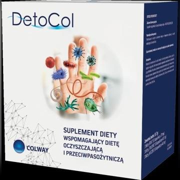 DetoCol oczyszczający na pasożyty 90 kaps. Colway