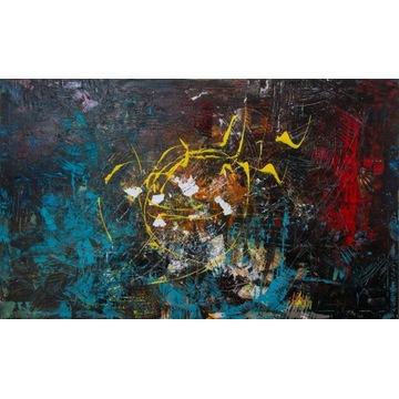 OBRAZ abstrakcyjny na płótnie 150x90 cm