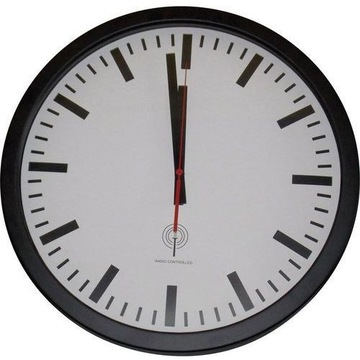Zegar ścienny   Sterowany radiowo,  40 cm