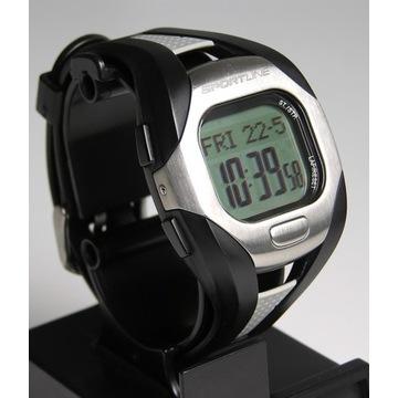 Zegarek sportowy SportLine, pulsometr, krokomierz