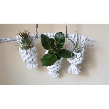 Kwietnik sznurek bawełniany, makrama na kwiaty,