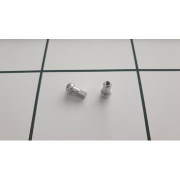 Nypel szprych srebrny 11mm 2.0 chyba Swiss 2szt.
