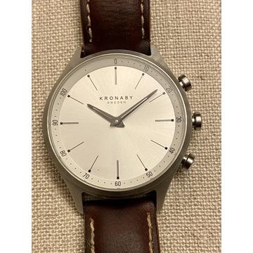 Kronaby smartwatch hybryda zegarek Sekel Silver