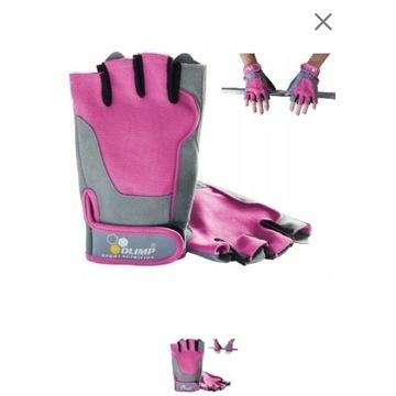 Różowe rękawiczki na siłownię Olimp rozm.S damskie