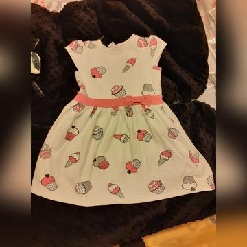 Letnia sukienka w babeczki ATUT 116 cm