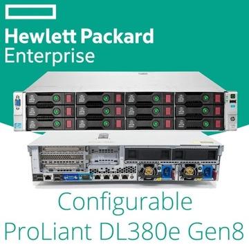 SERWER HP PROLIANT DL380E G8 2X E5-2450L 32GB iLO4