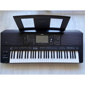 Yamaha PSR SX700 keyboard zestaw statyw słuchawki