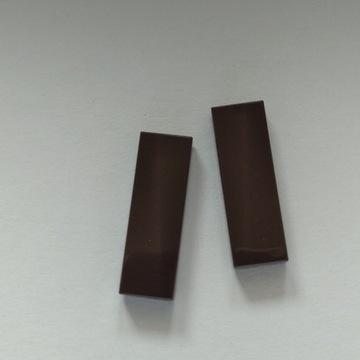 Lego płaskie płytki ciemno brązowe 1x3 (2 sztuki )