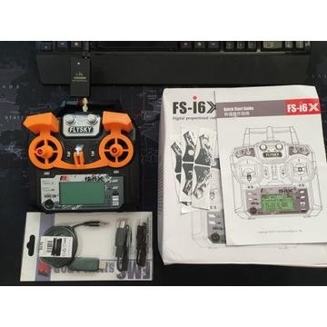 Aparatura FlySky i6X, wzmacniacz 2.4GHz, symulator