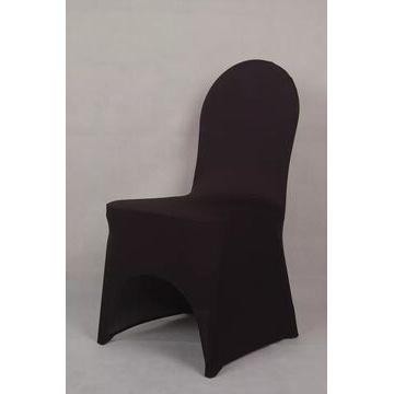 Czarne pokrowce na krzesła elastyczne